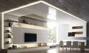 mueble laca y luz bcn