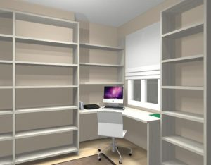 proyecto mueble librería bcn