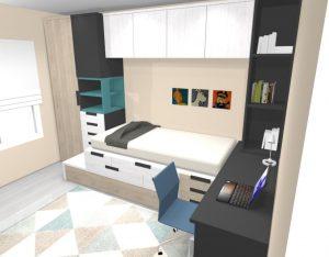 proyecto mueble juvenil bcn