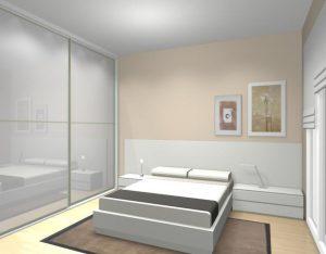 proyecto dormitorio blanco bcn