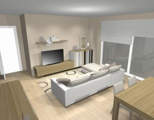 proyecto salón 3D bcn