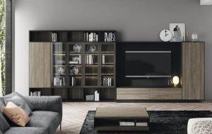 salón en madera negro barcelona