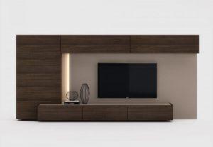 mueble salón madera luz bcn