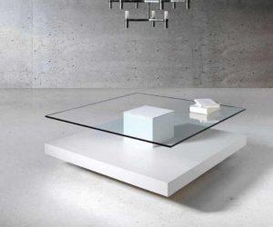 mesa de centro blanca bcn