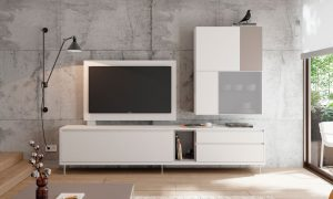 mueble blanco salón bcn